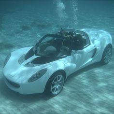 Because this is friggin\' awesome! The Submarine Sports Car - Hammacher Schlemmer #HammacherHolidays