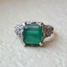 Vintage Art Deco or Edwardian 3 Carat by CypressCreekVintage