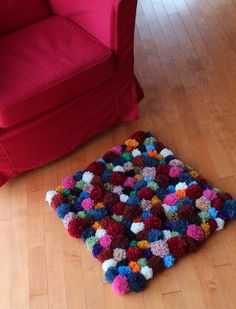 Pompom Accent Rug – DIY Tutorial   Pippa Quilts