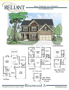 House plans house plans canada stock custom pillars for Reliant homes floor plans