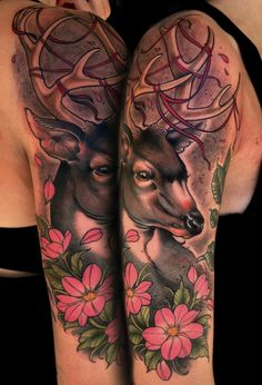 #tattoo by Sam Smith #deer #stag