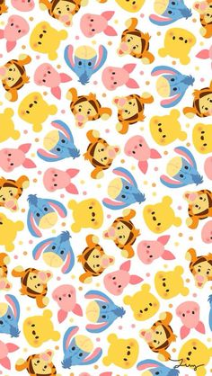 #pooh #tiger #piglet #donkey #disney #colorful
