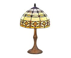 TIFFANY LUZ: Lámpara de sobremesa Serie Marfil - marrón I