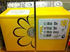 Laveuse sécheuse personnalisé avec une peinture de couleur jaune vif