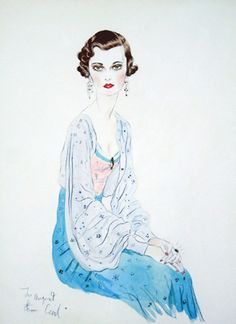 Margaret, Duchess of Argyll, watercolor by Cecil Beaton.