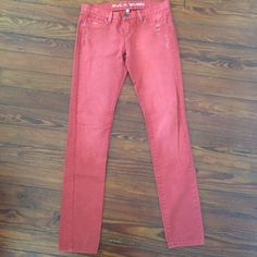 RVCA red skinny jeans RVCA lightly distressed red skinny jeans, size 30. Great shape and a great wardrobe addition! RVCA Jeans Skinny