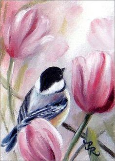 Oiseaux en peinture -Paulie Rollins