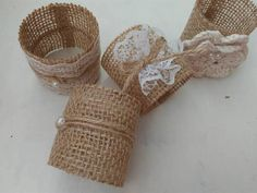 This Listing is for set of 1- 150 Rustic Burlap Napkin Rings. Beautiful for a wedding, BBQ, or party or your Home. Enhance your special occasion with our rustic table ware adding texture and style to your wedding venue or home dining table. Make your bridal shower elegant with these