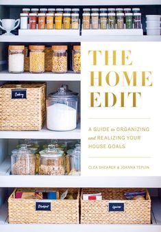 Container Store, Architectural Digest, The Home Edit, Mindy Kaling, Pantry Organization, Organization Ideas, Pantry Ideas, Closet Ideas, Jars
