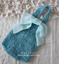 03fe0eeaad9 Modré kalhotky s laclem +mašle   Zboží prodejce Monchéri baby props and toys