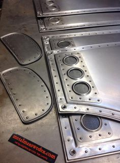 custom metal interior panels made with handtools - metal fabrication by metalmansweden