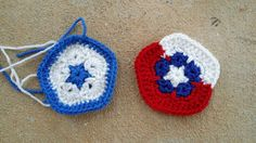 The Honduras and Chile pentagons for my crochet 2014 World Cup soccer ball: http://www.crochetbug.com/the-return-of-firefly-weather/