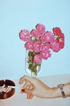 Flowers And A Cigarette