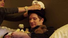 """When he casually put bunnies and chicks on his head in the """"Uma Thurman"""" video, and your soul exploded. 31 Times Patrick Stump Ruined All Other Men For You Emo Bands, Music Bands, Soul Punk, Patrick Stump, Patrick Martin, Emo Guys, Black Parade, Pete Wentz, Fall Out Boy"""