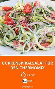 Gurkenspiralsalat für den Thermomix - smarter - Kalorien: 296 Kcal - Zeit: 20 Min. | eatsmarter.de