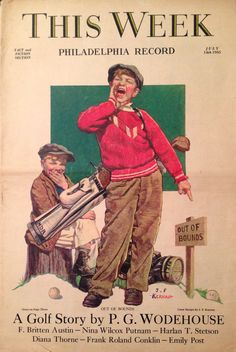This Week Magazine - Philadelphia Record July 1935 Golf Cover