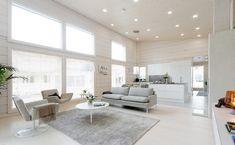 Modernia ja perinteistä White Interior, Minimalism Interior, House, Home Decor, House Interior, Log Homes, White Decor, Home Deco, White Living Room Decor