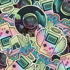 Moon dark gothic halloween  sticker pack set of 7 Moon witch sticker bundle Big sticker bomb collection planner journal gift for friend.