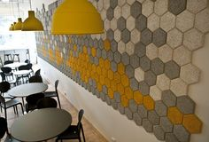 Trӓullit Dekor acoustic Hexagons by Form Us With Love at Stadsmissionen