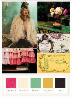 Vintagey pink, yellow and aqua palette Colour Schemes, Color Combos, Color Patterns, Color Palettes, Green Colors, Pink Color, Theme Color, Colour Board, Colorful Garden