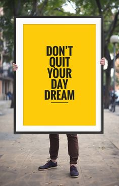 """Art Digital Print """"Don't Quit Your Day Dream"""" Printable Poster Typography Home Decor Inspirational Quote Motivational Art Digital Download"""