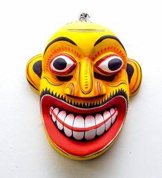 African Masks, African Art, Buddha Wall Art, Clown Mask, Wolf Spirit Animal, Side Tattoos, Masks Art, Color Pencil Art, Handmade Wooden