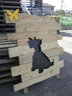 Pallet Wood-Scottish Terrier -Silhouette-02
