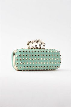 xxlittlepinkbowtiexx's save of Candy Skull Clutch - Mint on Wanelo