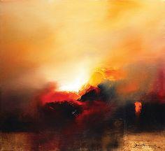 JOSÉ LUIS BUSTAMANTE, El Quinto Sol, Firmado y fechado 02, Óleo sobre tela, 55 x 60 cm. Con certificado de autenticidad del artista.