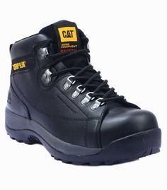 7838edc8 Caterpillar Hydraulic Premium Black Leather S3 Water Resistant Safety Work  Boots Туристический Стиль, Туристическая Мода