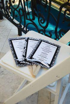 Programs for an outdoor wedding