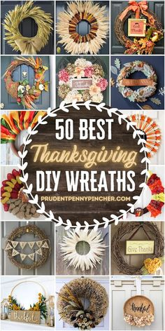 Decorate your front door for Thanksgiving with these cheap and easy DIY Thanksgiving wreaths. From deco mesh Thanksgiving wreaths to burlap Thanksgiving wreaths, there are plenty of DIY wreaths that feature Thanksgiving favorites like wheat, corn husks, turkeys, fall leaves and more! Thanksgiving Centerpieces, Thanksgiving Wreaths, Thanksgiving Ideas, Indian Corn Wreath, Turkey Wreath, Burlap Flowers, Homemade Christmas Gifts, Fall Leaves, Deco Mesh Wreaths