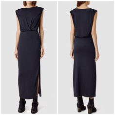 All Saints Indigo Jersey Maxi Dress Super chic and perfect for layering. Brand new with tags! Color is indigo. No trades!! 12131539aso All Saints Dresses Maxi