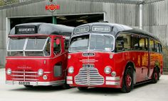 Midland Red Single Decker buses. The bus on the left, although it has Bournemouth on its destination board, was originally designed as the first motorway coach