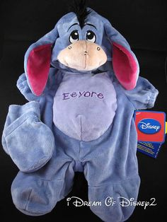 NEW DISNEY EEYORE Winnie Pooh PLUSH BUILD-A-BEAR TEDDY COSTUME OUTFIT #BUILDABEARWORKSHOPDISNEY