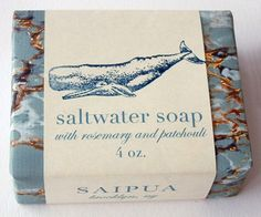 saltwater soap...love the grey and white verigated with copper.