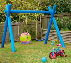 How to make a kids swing - Better Homes and Gardens - Yahoo! New Zealand Backyard Swings, Backyard Playground, Backyard For Kids, Kids Outdoor Play, Kids Play Area, Outdoor Fun, Projects For Kids, Diy For Kids, Diy Projects