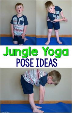 Gross motor activities with a jungle theme. Jungle yoga is perfect for brain breaks for the classroom, therapy, in conjunction with a jungle unit or a jungle theme. Use these at home with your animal lover! These are great gross motor activities for phys Jungle Theme Activities, Preschool Jungle, Jungle Crafts, Jungle Theme Classroom, Animal Activities, Classroom Themes, Classroom Activities, Classroom Crafts, Preschool Crafts
