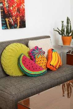 Sit or sleep on some tropical fruits