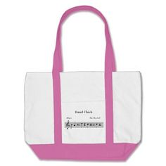 Personalized Band Chick Music Tote Bag