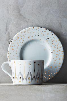 Gold foil plate ware