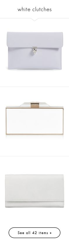 """""""white clutches"""" by ouchm4rvel ❤ liked on Polyvore featuring bags, handbags, clutches, purses, cloud blue, alexander mcqueen handbags, hand bags, envelope clutch bag, envelope clutch and alexander mcqueen clutches"""