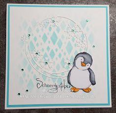Elchi's World of Books & Crafts: [Crafting] Karte - Kulricke - Pinguin Felix - Schneegestöber