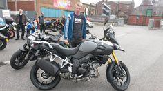 Blair picking up his superb Suzuki DL1000Thanks again mate