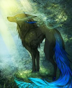 Spirit- a he-wolf named for his bravery. Spirit will fight in any battle to defend the Jagged Mountain Pack. Cloud's brother.
