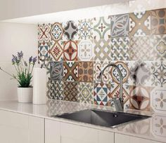 Kitchen tiles morrocan home 44 super Ideas Moroccan Tiles Kitchen, Kitchen Tiles Design, Kitchen Interior, Kitchen Decor, Decorating Kitchen, Kitchen Sink, Urban Decor, Cuisines Design, Home Kitchens