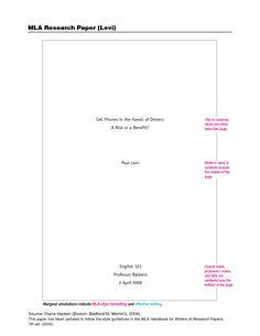 Mls 964 format essay
