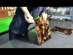 Autumn leaves bench - YouTube