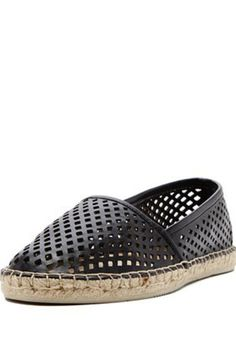 Spend your summers in style with the TIGG, a perforated slip on espadrille with classic Americana flair.Upper:100% Man-Made Leather                           Leather Espadrille  by Dolce Vita. Shoes - Flats - Espadrilles New Jersey