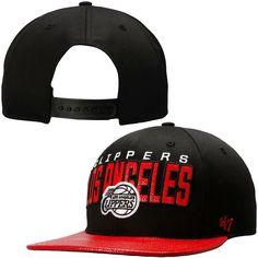 LA Clippers '47 Brand Hardwood Classics Redondo Snapback Hat – Black - $27.19